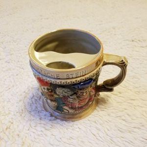 Vintage Mustache Stein Japan Mug